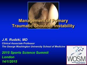 Shoulder Instability Lecture London England 2015 Rudzki