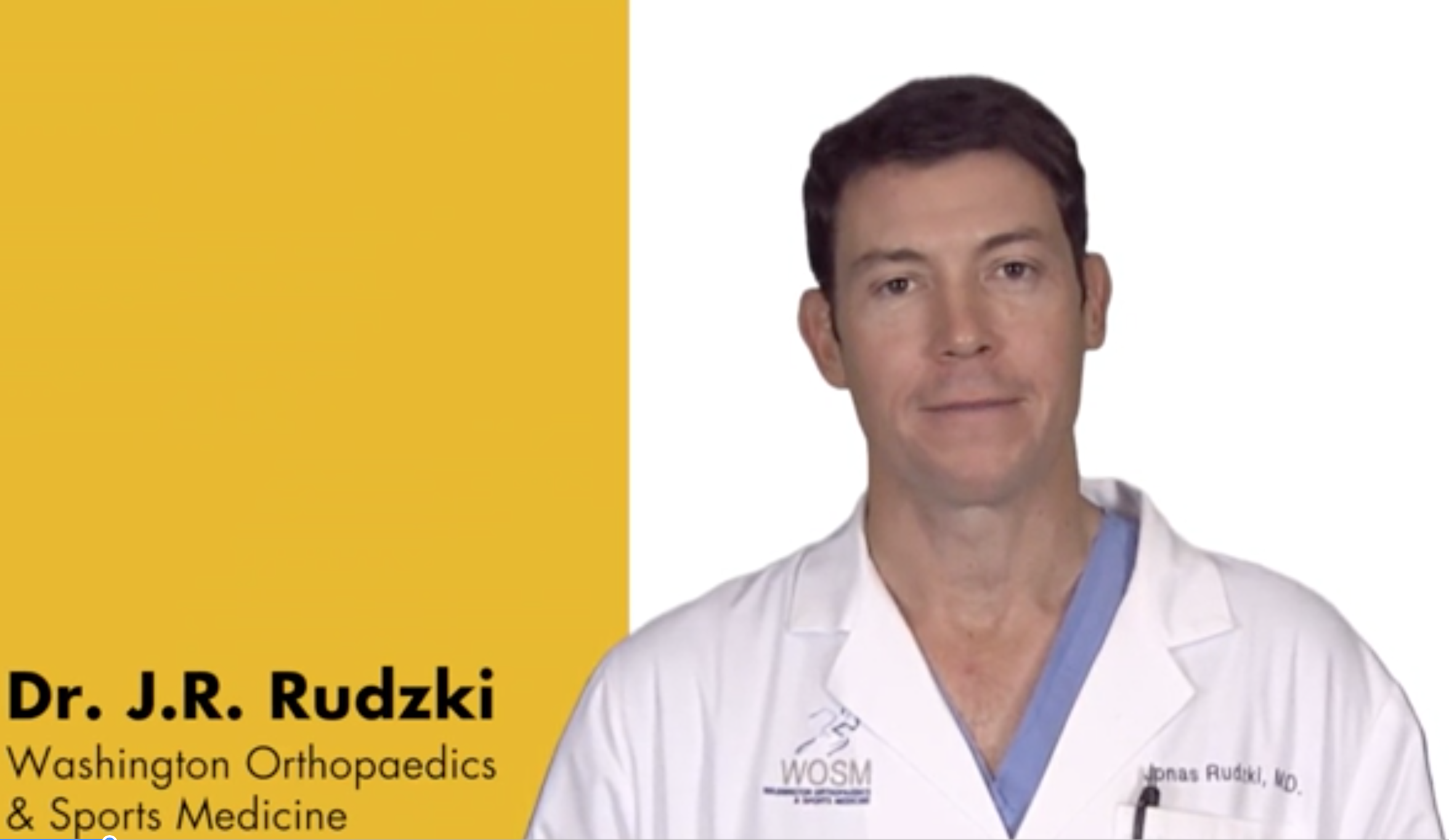Dr Rudzki Video Demonstrates new orthopaedic implant for all inside arthroscopic meniscal repair