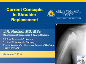 Sibley Memorial Johns Hopkins Health Shoulder Replacement Lecture 2016