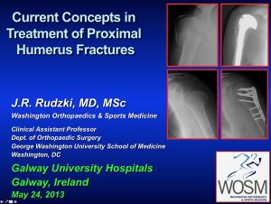 Galway Ireland Proximal Humerus Fracture Surgery Lecture Fracture Repair and Replacement Rudzki